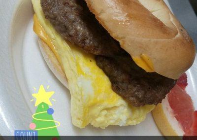 breakfast on a bagel